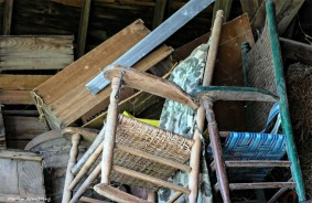 In the barn's loft