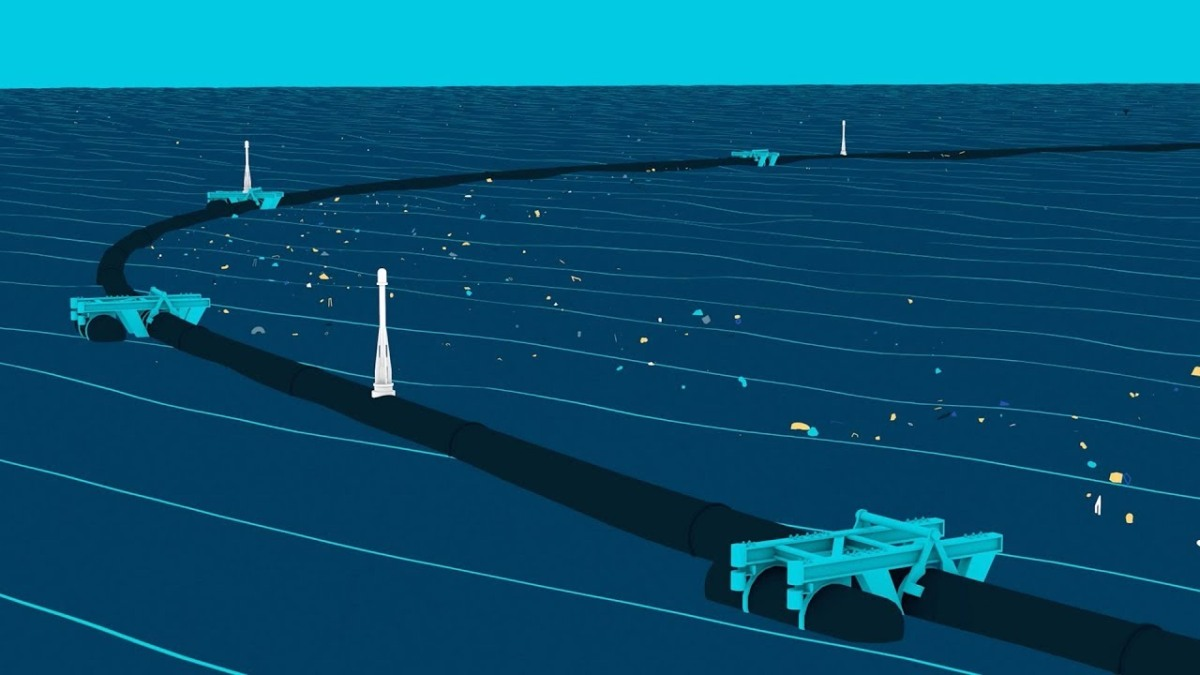 HOW DOES THE OCEAN CLEANUP TECHNOLOGY WORK?