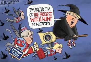 Witch Hunt political cartoon