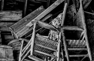 Rockers stored in the barn