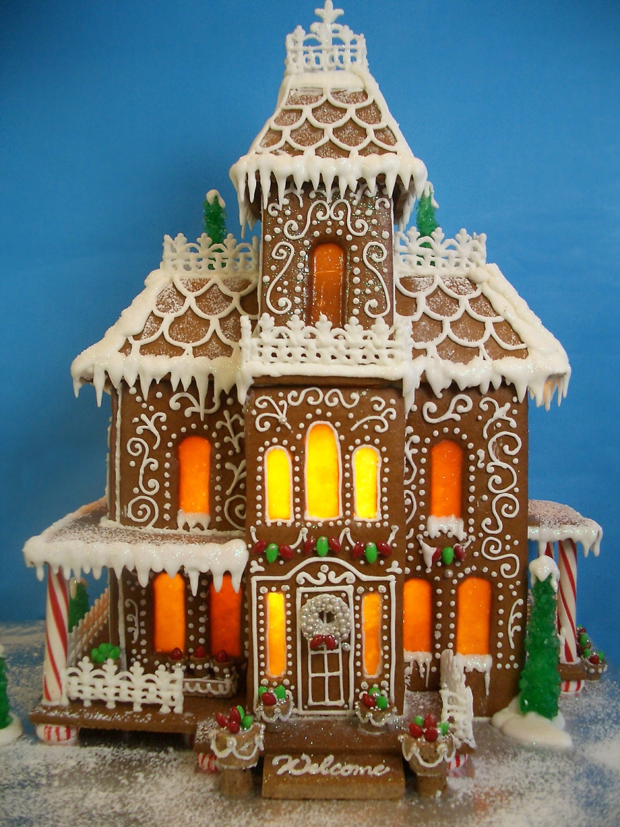 victorian gingerbread gingerbread house template  Victorian-Gingerbread-House-Template-Models | Serendipity ...