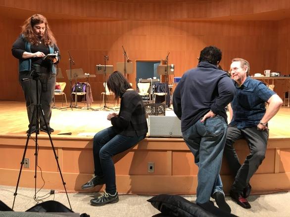 Schmoozing before rehearsal