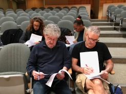 Actors checking scripts