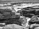 Stone coastline in Gloucester