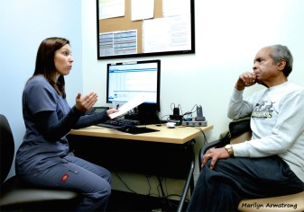 Consultation on a cochlear implant
