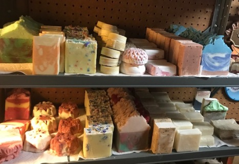 Soap inventory in Katie's basement