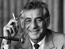 Bernstein giving an interview