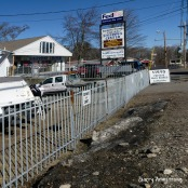 Photo: Garry Armstrong - More fencing around the boat store