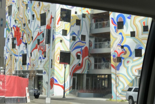 Longshot of a beautifully painted building