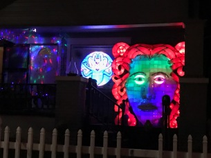 Psychedelic light show at night!