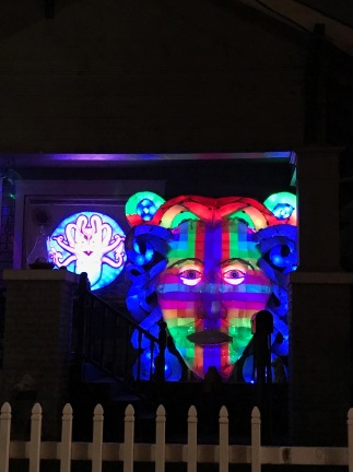 More of the light show on the porch of this house