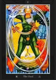 From the Alastair Crowley deck - Thoth, the Fool