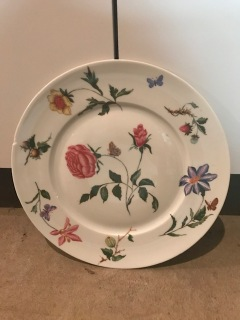 Magnificent but whimsical floral plate of my mother's