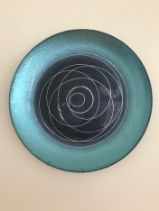 I fell in love with this plate set and found the perfect place to use it on my dining room wall