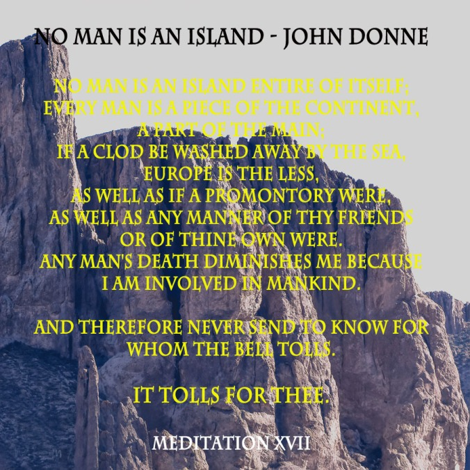 No man is an island - john donne