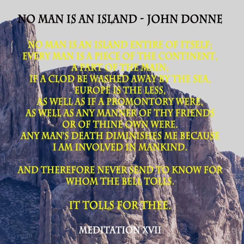 No man is an island - john donne
