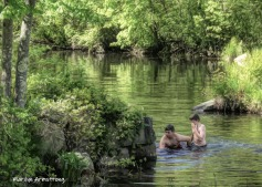 Kids swimming in the Blackstone in Rhode Island