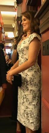 Tina right next to me waiting to meet the press