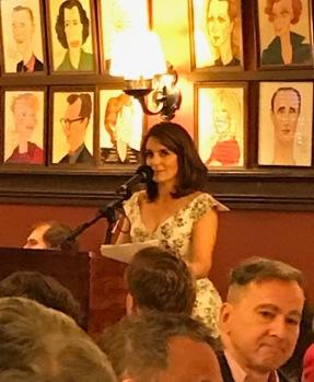 Tina announcing winners