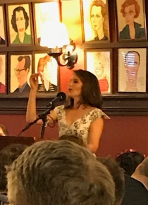 Tina joking with the audience