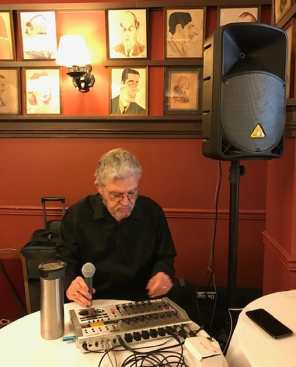 Tom at the audio table