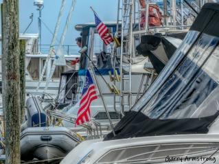 Along the dock -- Can you spot Tom?