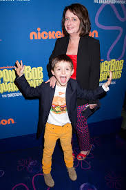 Dratch and her more grown-up son