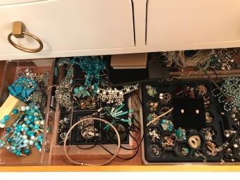 My 'Dressy ' drawer of jewelry