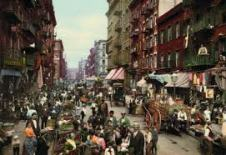 The chaos of vehicles, vendors, and pedestrians sharing -- one space