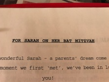 A later poem for my daughter's Bat Mitzvah