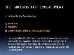 impeach - grounds