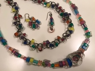 Glass jewelry from craft shows.