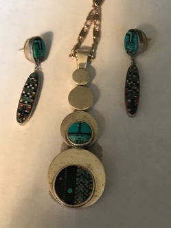 Genuine Indian jewelry from Arizona or New Mexico.