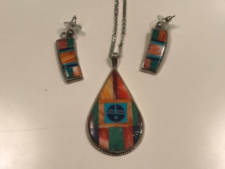 Indian jewelry set from another trip to either Arizona or New Mexico.