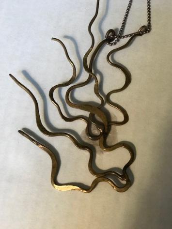 Joy's welded metal pieces