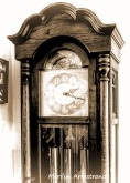 Closeup of the grandfather's clock