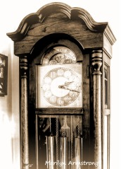 Closeup of the grandfather's clock
