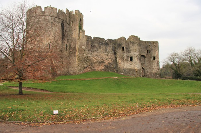 Chepstow castle outside