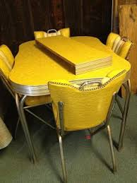 Mid-century yellow Formica table