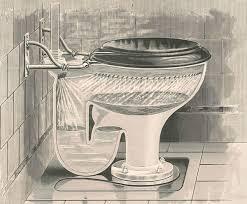 Old flush toilet design