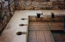 Public Roman bathroom