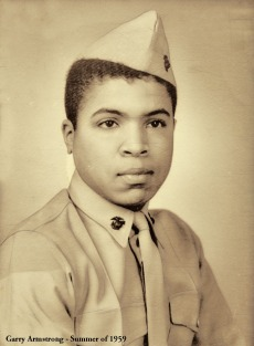 Garry, the young Gyrene in 1959