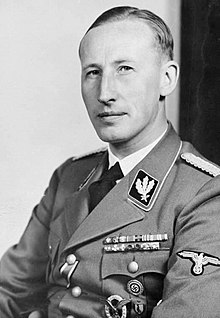 "Super-Nazi Reinhart Heydrich, assassinated architect of Germany's lethal ""Jewish Solution""."