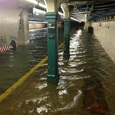 Flooded subway station after Hurricane Sandy
