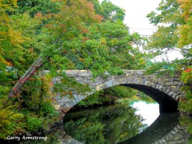 Stone bridge over the Blackstone River