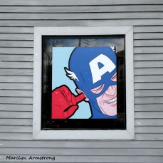 The store window is the frame. Hey Aqua dude!